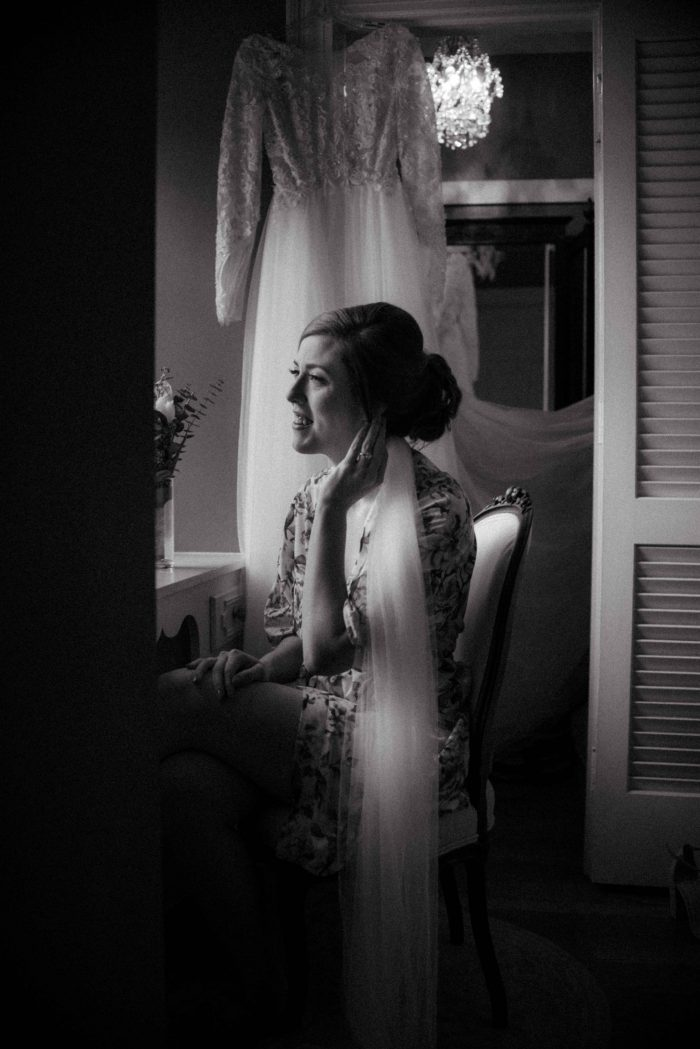 Durham Wedding Photographer bride get ready bridal pajamas highgrove estate fuqary varina